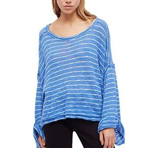 🎀 Free People Striped Island Girl Hacci
